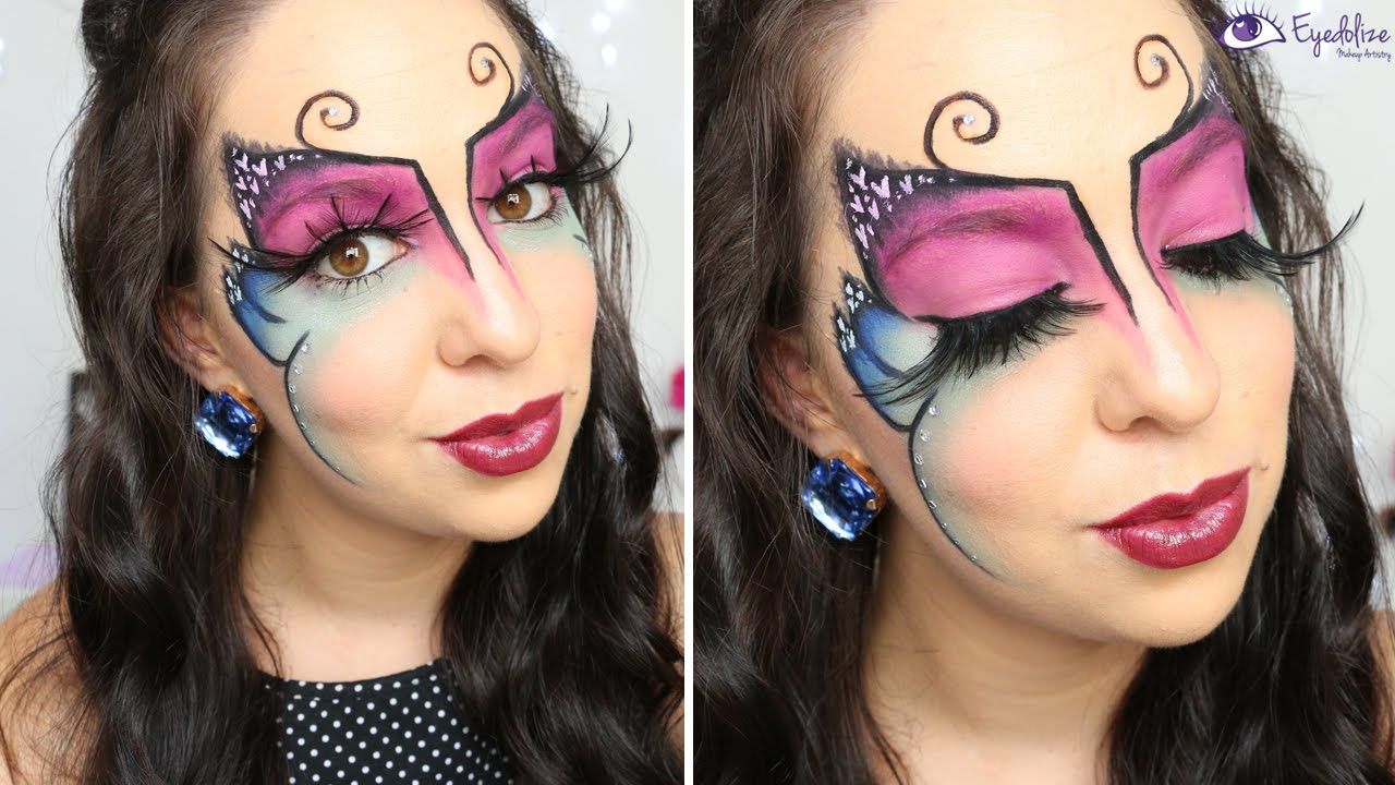 Butterfly Face Makeup Tutorial By EyedolizeMakeup - YouTube