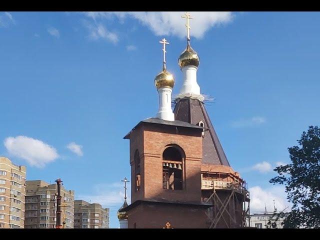 Строительство Храма Серафима Саровского в Дегунино