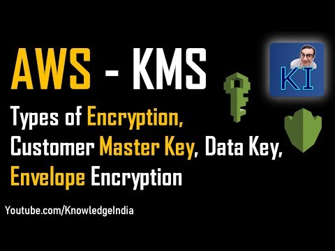 AWS #KMS - Key Management Service - Customer Master Key, Data Key, Envelope  Encryption (Part 1)