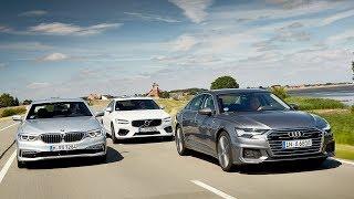 2019 Audi A6 vs 2018 BMW 5 Series vs 2018 Volvo S90