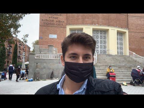 DIRECTO desde las COLAS del HAMBRE de Madrid con la Fundación Madrina