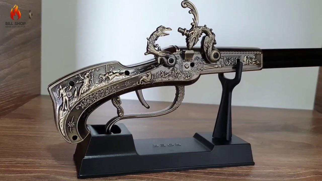 Bật lửa hình súng hỏa mai cổ, LH 0964796894, giá 490k