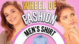 MEN'S CLOTHING CHALLENGE?! Wheel of Fashion w/ Griffin Arnlund & Carrington Durham
