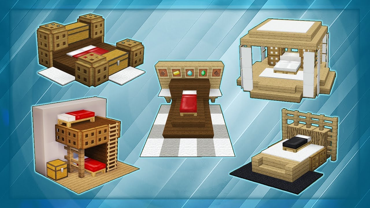 20 Minecraft Bed Designs! - YouTube