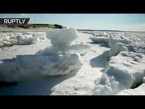 Arctic view: Stunning footage of frozen tundra-like Cape Cod