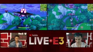 Ninja and Josh Hart of the LA Lakers Play Fortnite at the YouTube Live at E3 Studio Part 1