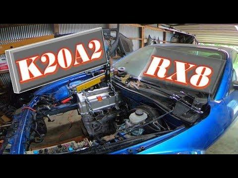 KX8 ! MAZDA RX-8 swap K20A + Turbo GT2876r - YouTube