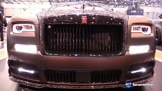 2018 Rolls Royce Dawn Black Collage Mansory - Exterior Interior Walkaround - 2017 Geneva Motor Show