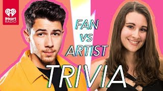 Nick Jonas Challenges A Super Fan In A Trivia Battle | Fan Vs. Artist Trivia