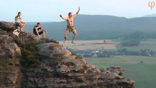 Highlining in Saxony with Landcruising