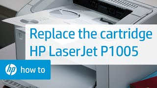 Replacing a Cartridge - HP LaserJet P1005 Printer(Don't know which cartridge you need? Visit http://www.suresupply.com. Learn how to replace the toner cartridge in the HP LaserJet 1020, 1022, 1018, P1002, ..., 2010-04-02T17:04:10.000Z)