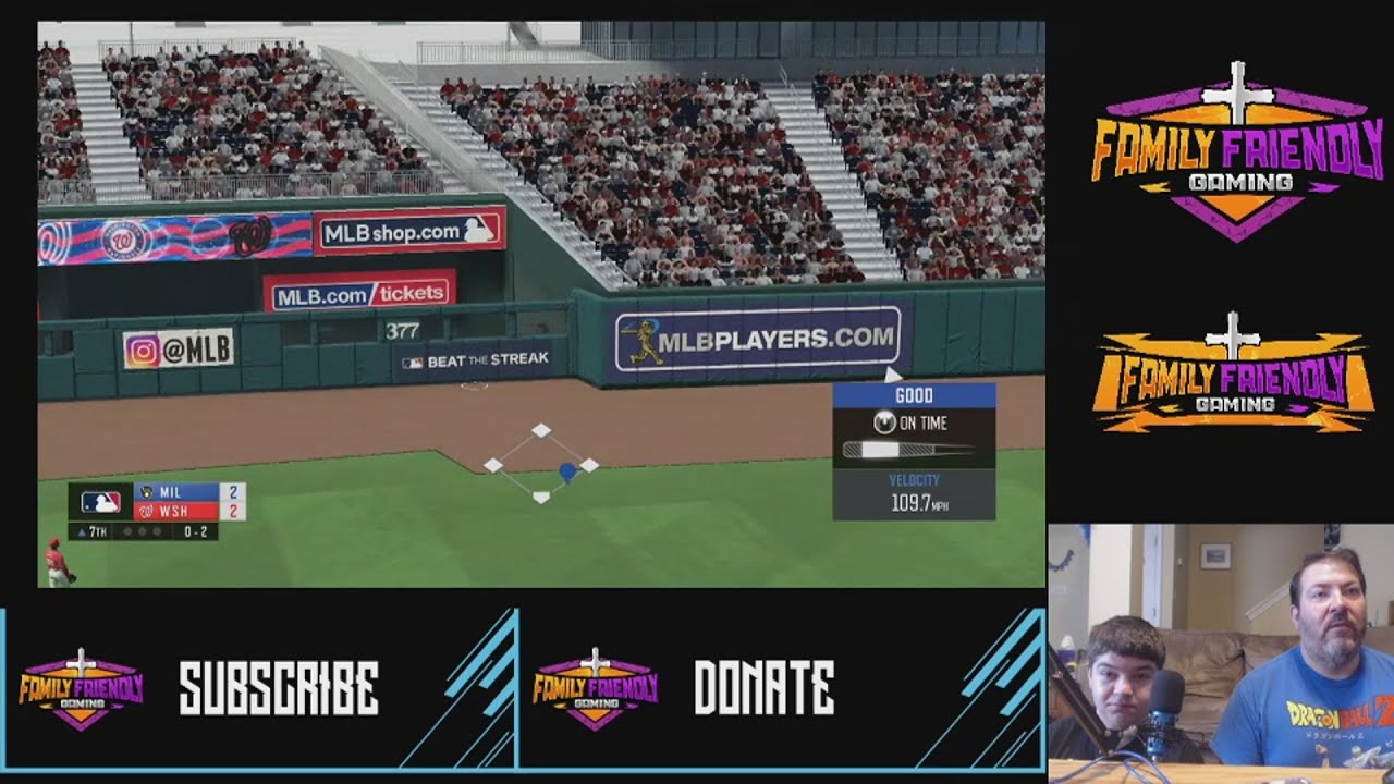 RBI Baseball 20 Brewers vs Nationals