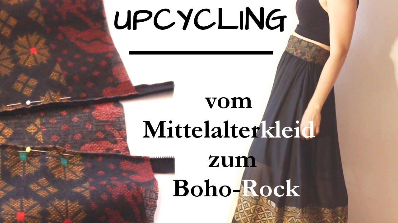 ✌ UPCYCLING: aus ALT wird NEU - Mittelalterkleid wird Boho-Rock
