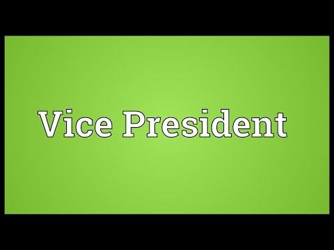 Vice President Meaning
