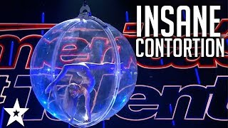 Contortionist Performs In Giant Aerial Ball | America's Got Talent