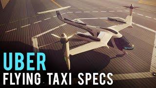Uber Unveils Flying Taxi Prototype & Specs