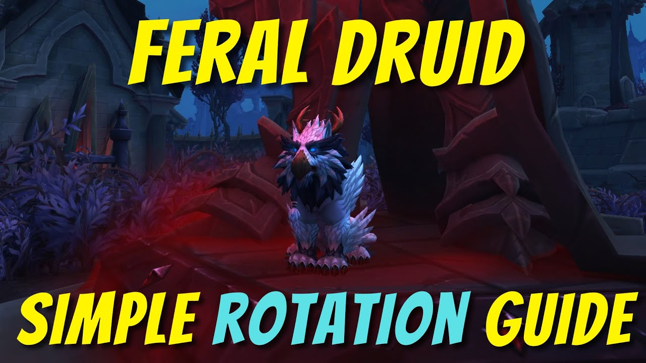 Feral Druid Simple Easy Rotation Guide Beginner Friendly World Of Warcraft Shadowlands Youtube