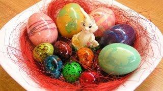 Пасхальные яйца - видео рецепт(Окрашиваем яйца к Пасхе - простой видео рецепт. Готовимся к празднику! Подписка на новые рецепты: http://goo.gl/sBj4v..., 2013-04-30T10:19:04.000Z)