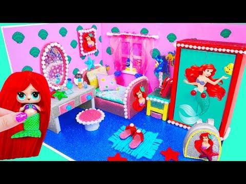 МИНИ дом Семейки Русалки Ариэль Куклы ЛОЛ Сюрприз! Мультик LOL Surprise Toy DIY Miniature Dollhouse