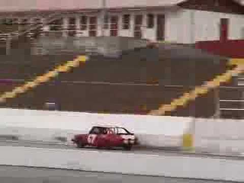Two 1984 Saab 900's Practice at Friendship Motor Speedway Racetrack