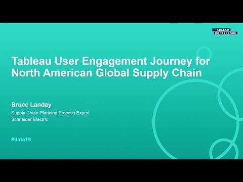 Schneider Electric: Tableau User Engagement Journey for North American Global Supply Chain