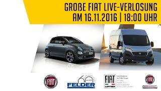 ***LIVE! Gewinnerziehung der FELDER-FIAT-Jubiläumsverlosung