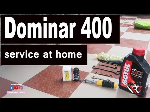 Dominar 400 Service At Home  Only 5 Min ||RRD||