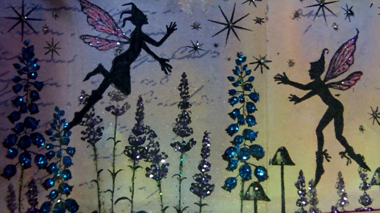 Mixed Media Mini Book Fairies At Sunset Youtube