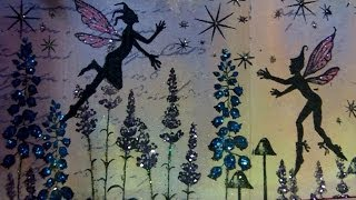 Timelapse video of my latest mixed media art project using a variet...