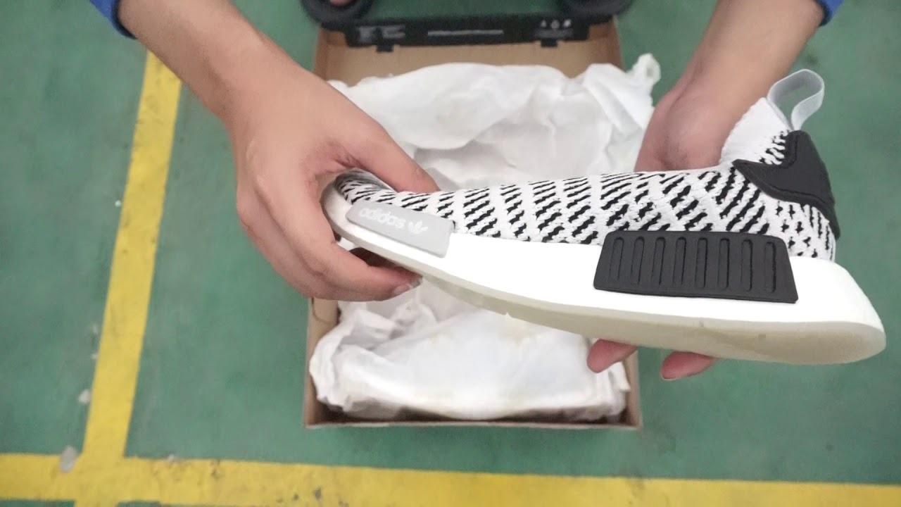 buy online 8852b 9ecc6 Adidas NMD R1 Stealth PrimeKnit White Snow Black Mist View Only