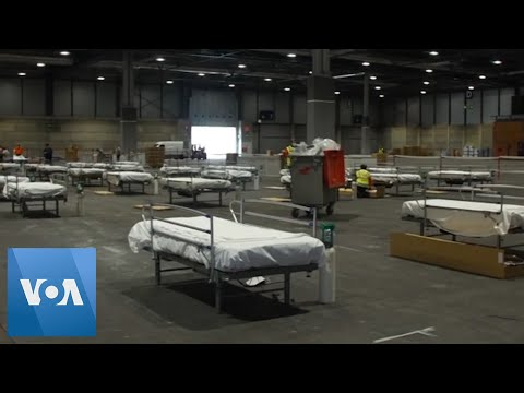 Field Hospital Set Up At Exhibition Center In Madrid, Spain