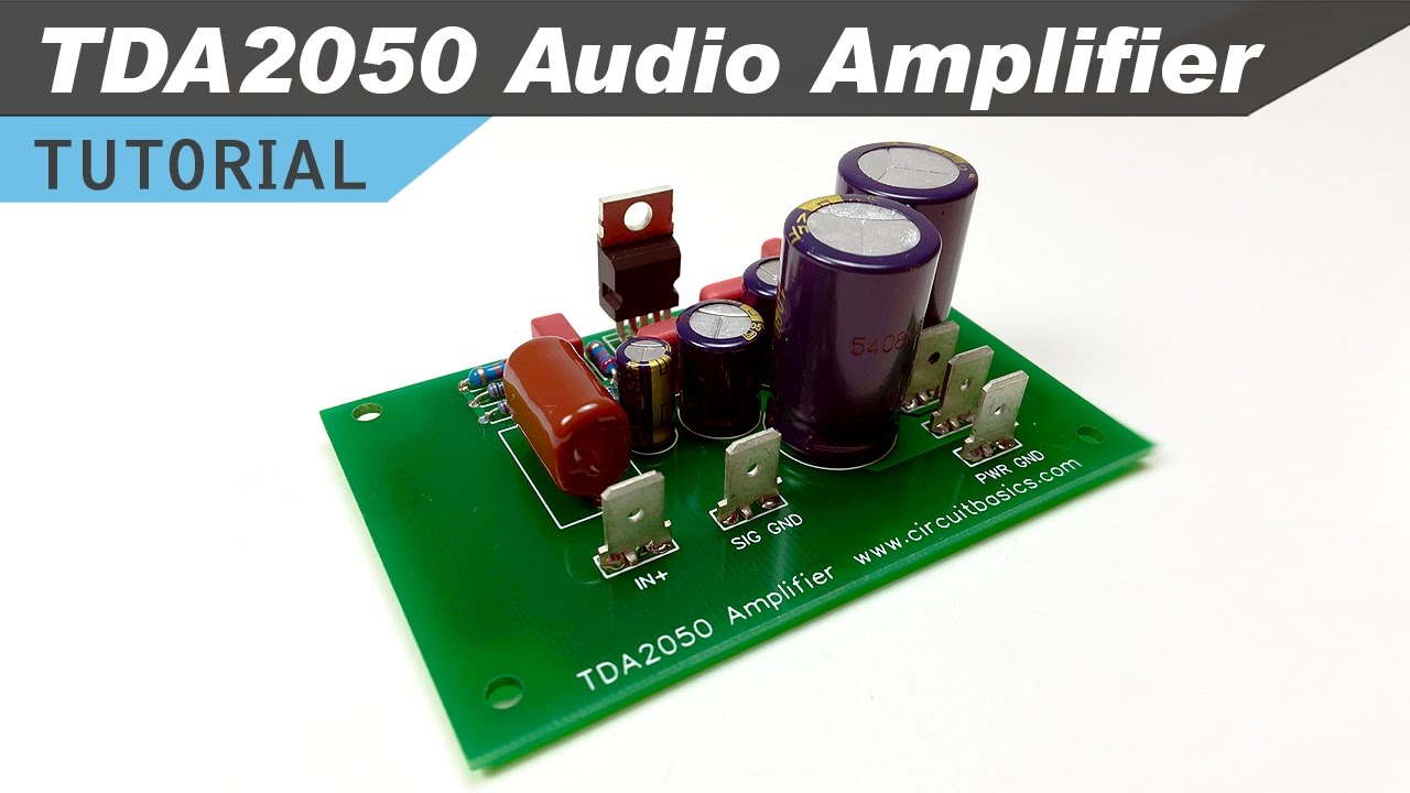 how to design and build a tda2050 stereo amplifier circuit basics [ 1280 x 720 Pixel ]