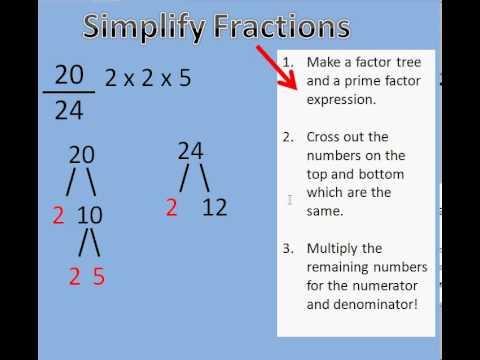 Simplify Fractions Tutorial