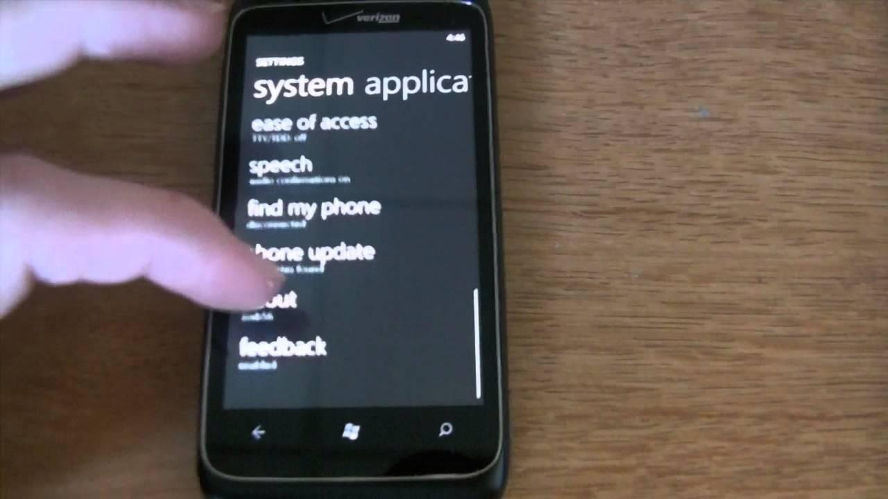 Verizon HTC Trophy - Windows Phone 7 8