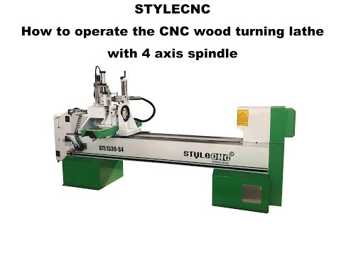 Useful! 4 axis CNC woodturning lathe operate video
