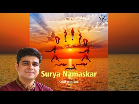Surya Namakar Mantra for Powerful Yoga   Sun Salutations   Full Song with English Lyrics