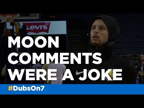 Steph Curry says moon landing comments were a joke