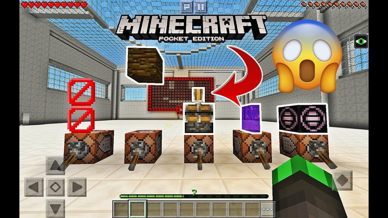 Top 5 Secret Blocks In Minecraft Command Block Tutorial Youtube
