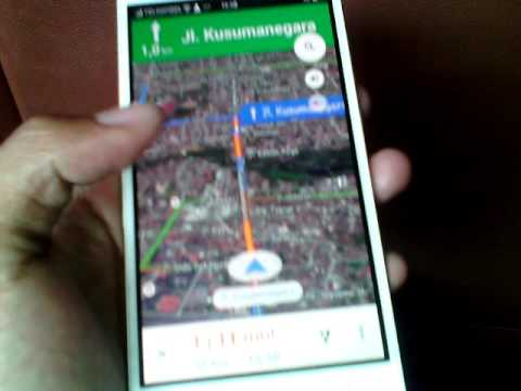 Using Google Maps Navigation Android, Cara Menggunakan Google Maps ketika sudah di jalan