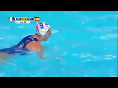 Belgrade Waterpolo Championships WOMEN - Italy - Spain 7-6 GOAL by GIULIA EMMOLO