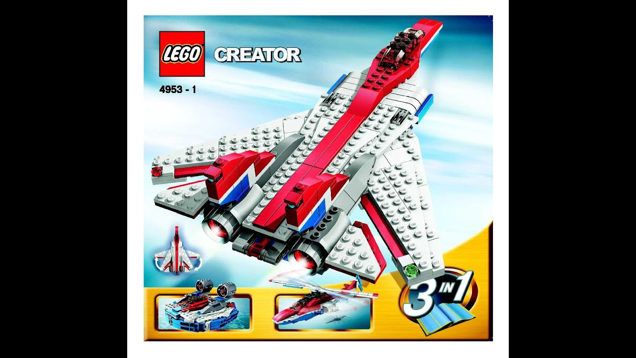 LEGO Creator Fast Flyers 4953 Instructions DIY Book 1 - YouTube