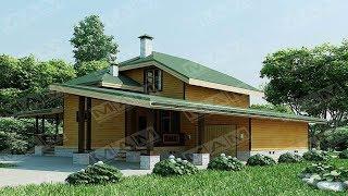 Проекты домов с мансардой и гаражом до 150 м2