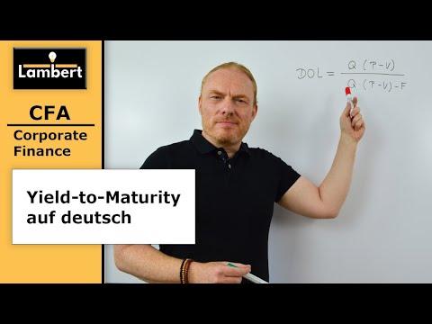 CFA Level I: Corporate Finance, Yield-to-Maturity (deutsch)