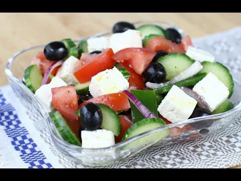 Греческий салат с моцареллой пошаговый рецепт с фото на