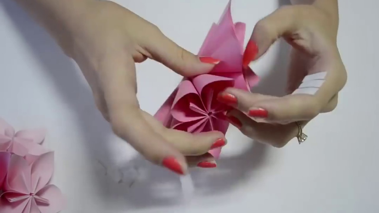 How to make an origami flower ball wedding party decorations how to make an origami flower ball wedding party decorations kusudama diy crafts tutorials dhlflorist Image collections