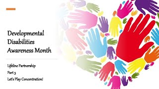 Developmental Disabilities Awareness Month Part 3: Let's Play Concentration with Pastor Susanne