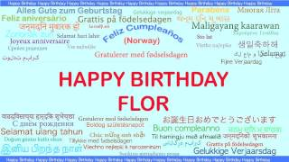 Flor   Languages Idiomas - Happy Birthday