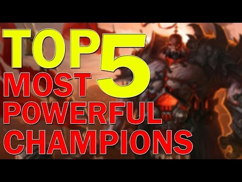 ❌ Top 5 Most Powerful Champions According To Lore
