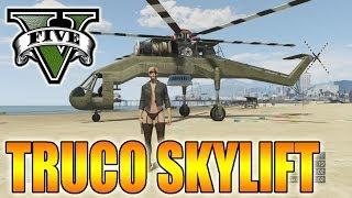 GTA V Online - Pilotar Skylift - Helicóptero Secreto - Vehículo Oculto GTA 5