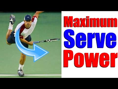 Tennis Serve - How To Increase Power With One Simple Trick